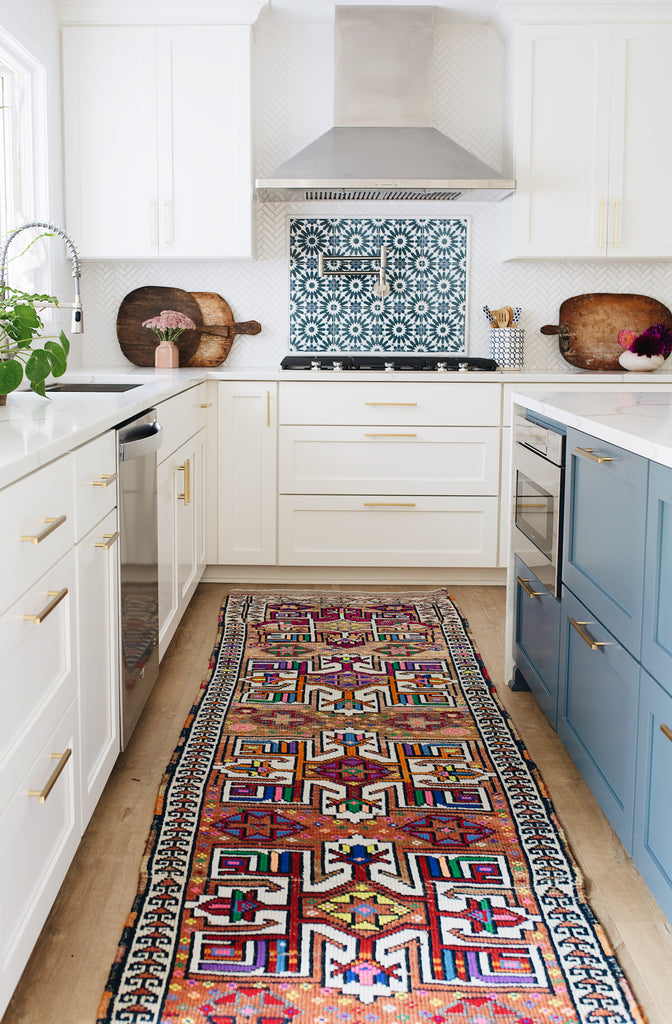 'Ginger' Vintage Turkish Runner - 2'9.5'' x 12'2''