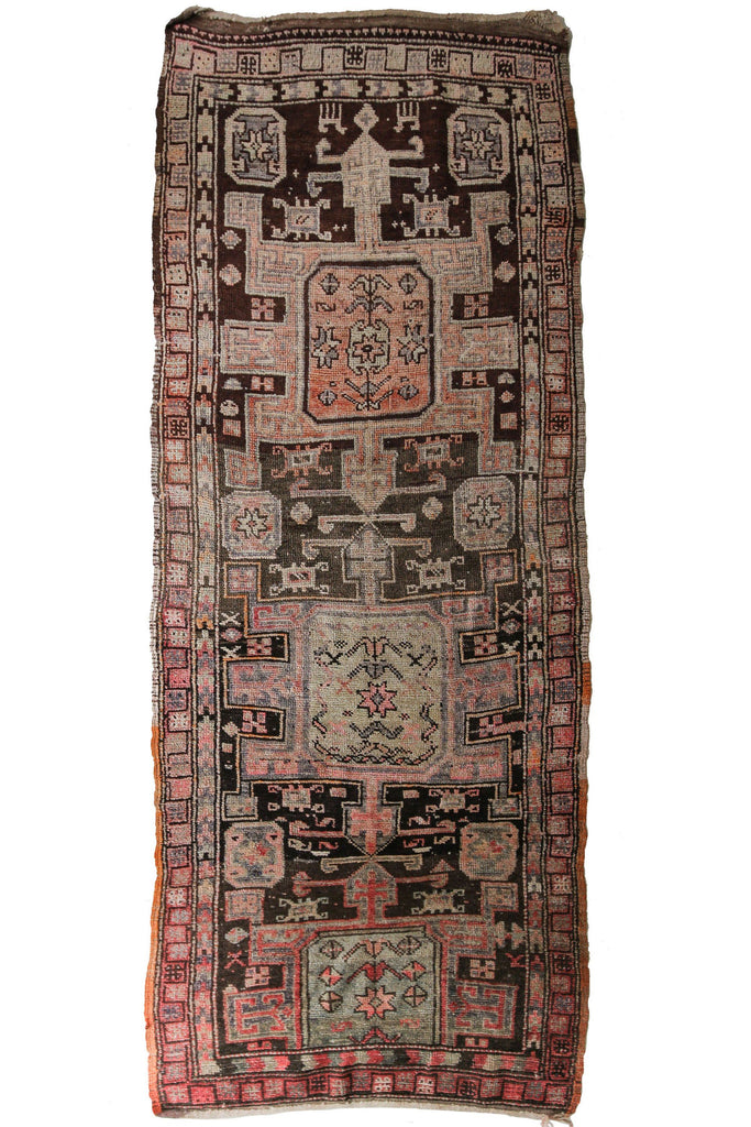 'Dolores' Rare Antique Tribal Runner - Canary Lane - Curated Textiles