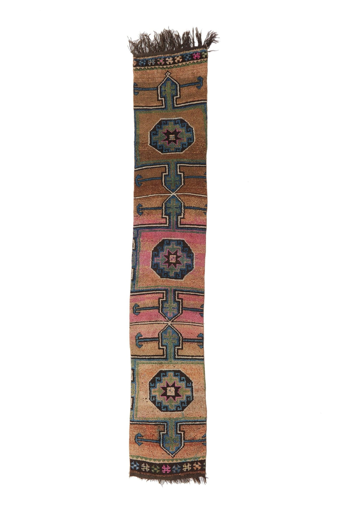 'Stardust' Vintage Turkish Narrow Runner - 2'2'' x 12'10'' - Canary Lane - Curated Textiles