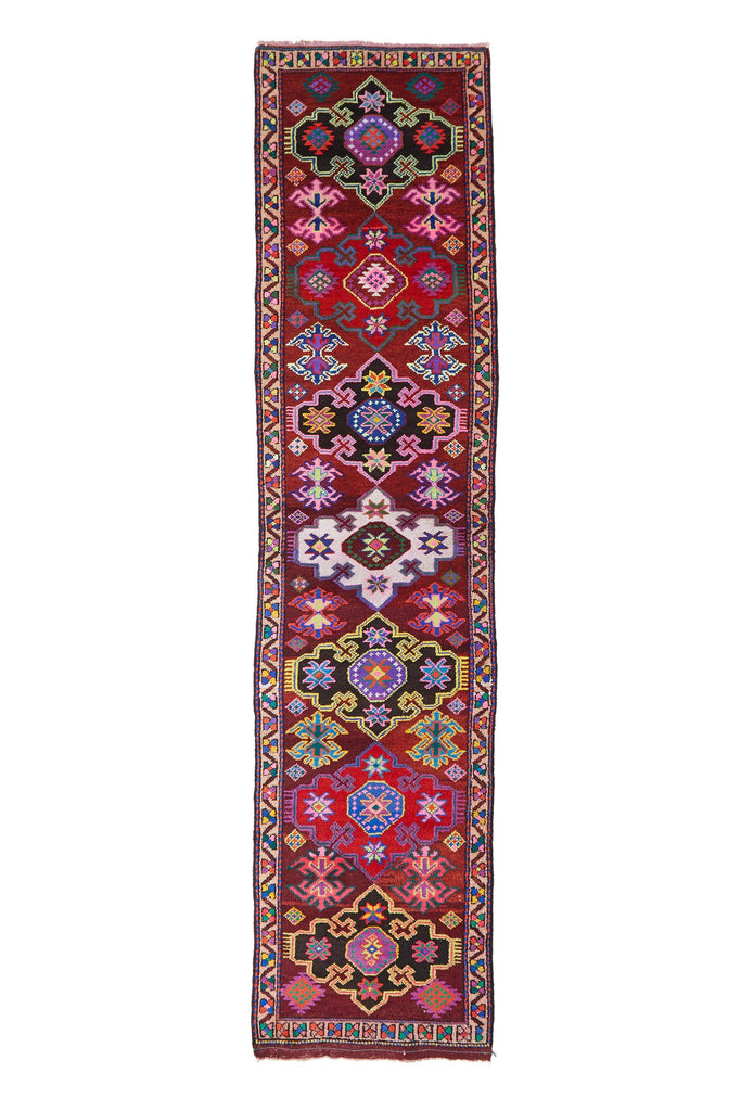 'Jubilee' Vintage Turkish Runner - 2'11'' x 12'4'' - Canary Lane - Curated Textiles