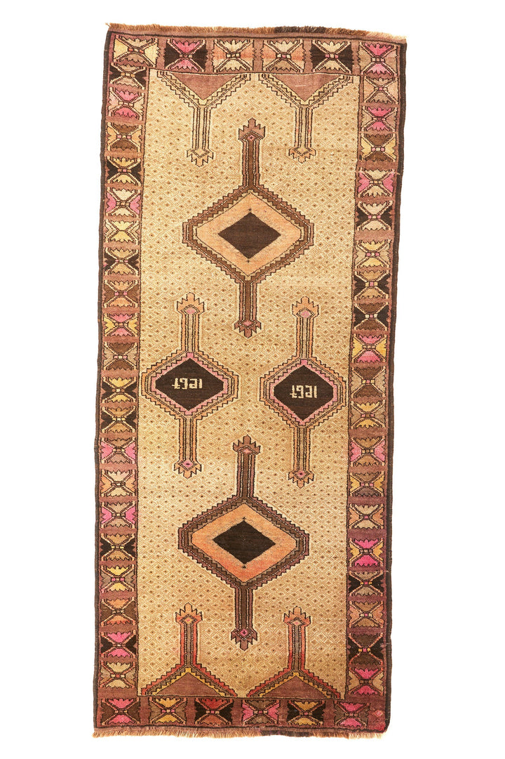 'Penny Lane' Vintage Area Rug - 3'10.5'' x 9' - Canary Lane - Curated Textiles