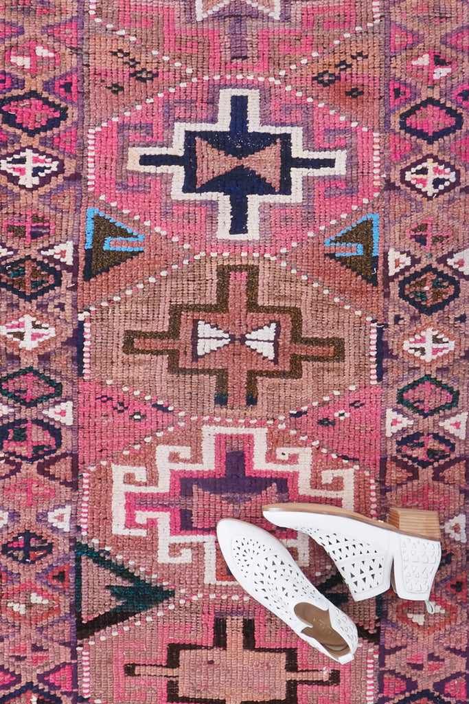 'Ruth' Turkish Vintage Rug - 3' x 11'2''