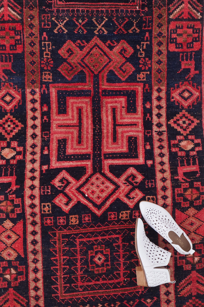 'Edith' Vintage Turkish Runner- 2'10'' x 11'9''