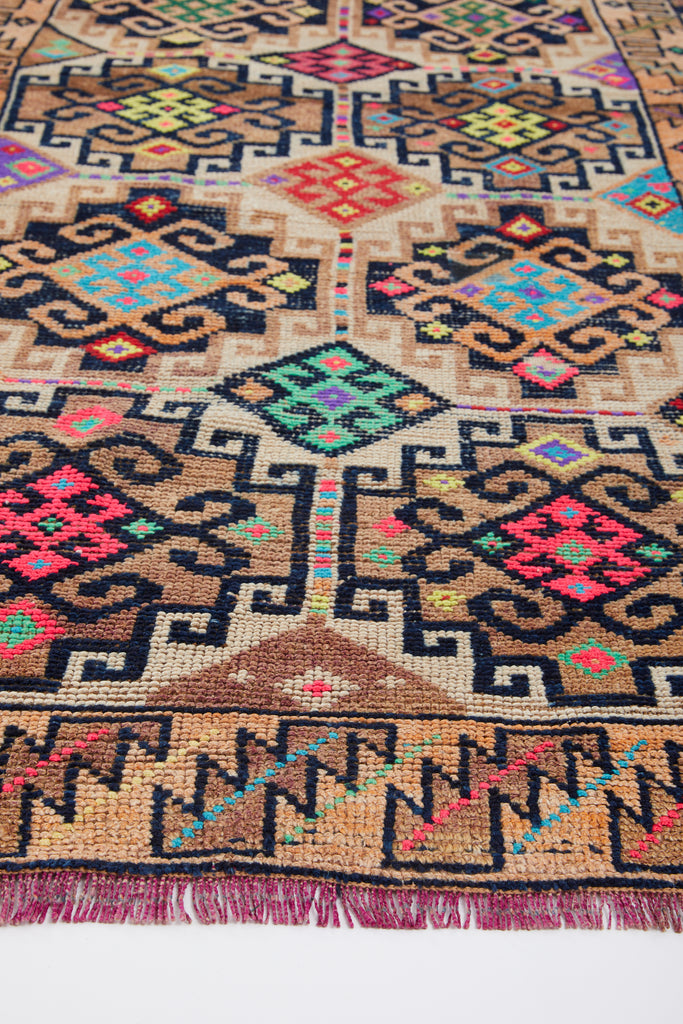 "'Venice' Turkish Vintage Runner Rug - 3'4"" x 9'1.5"""