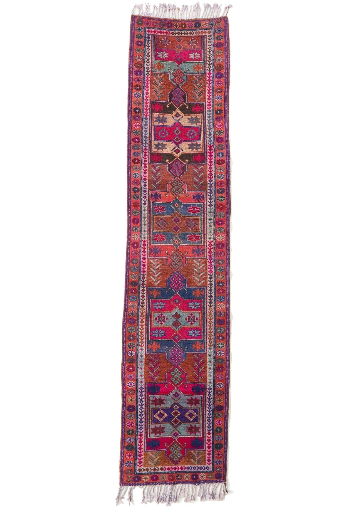 'Elysium' Vintage Turkish Runner - 3' x 14'2'' - Canary Lane - Curated Textiles