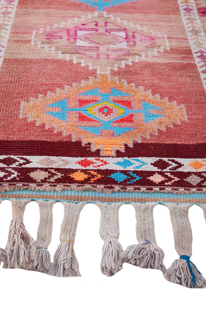 'Soiree' Vintage Turkish Runner - 2'11'' x 14'8'' - Canary Lane - Curated Textiles