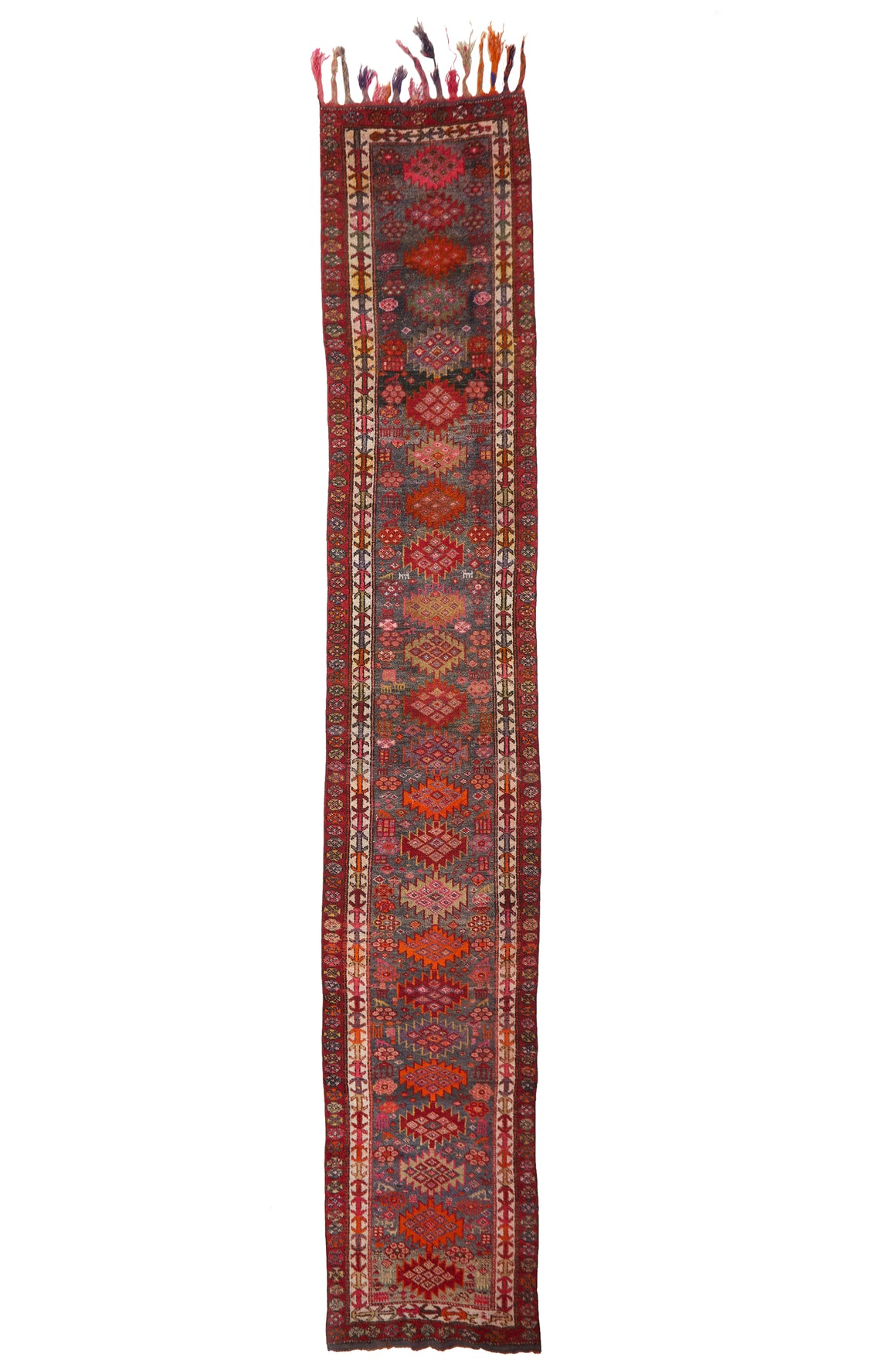 'Mulberry' Vintage Turkish Long Runner - 3' x 18' - Canary Lane - Curated Textiles