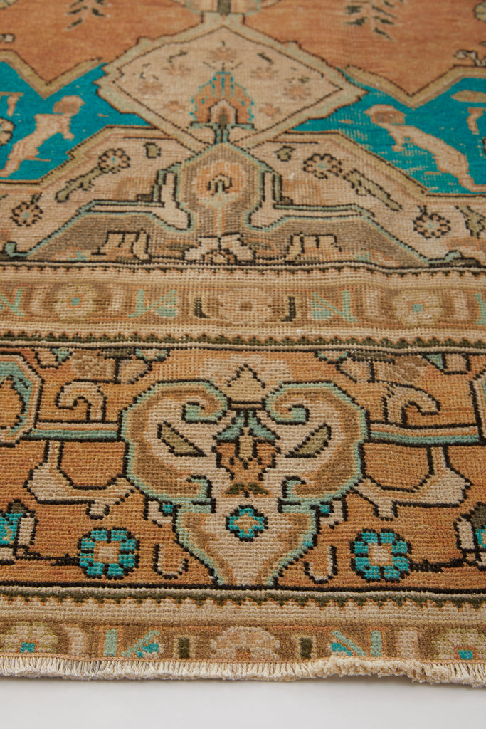 "'Nettle' Distressed Vintage Turkish Area Rug - 9'4"" x 12'11"""