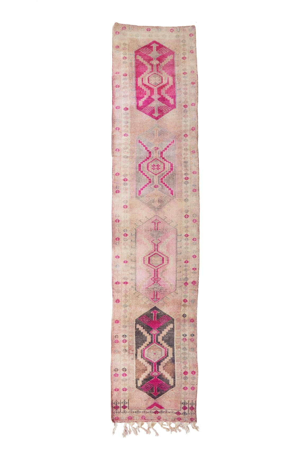 "'Geranium' Vintage Turkish Runner - 2'10 x 13'4"" - Canary Lane - Curated Textiles"