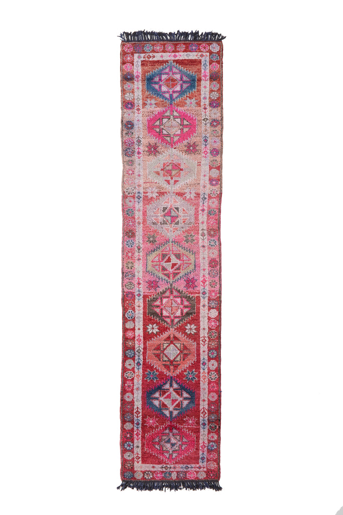 'Appleblossom' Vintage Turkish Runner - 2'9 x 12' - Canary Lane - Curated Textiles