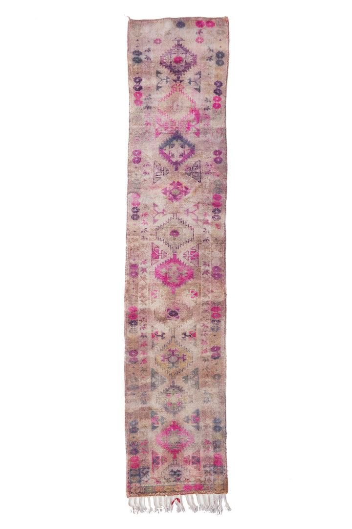 'Allium' Vintage Turkish Runner - 2'9'' x 13'4'' - Canary Lane - Curated Textiles