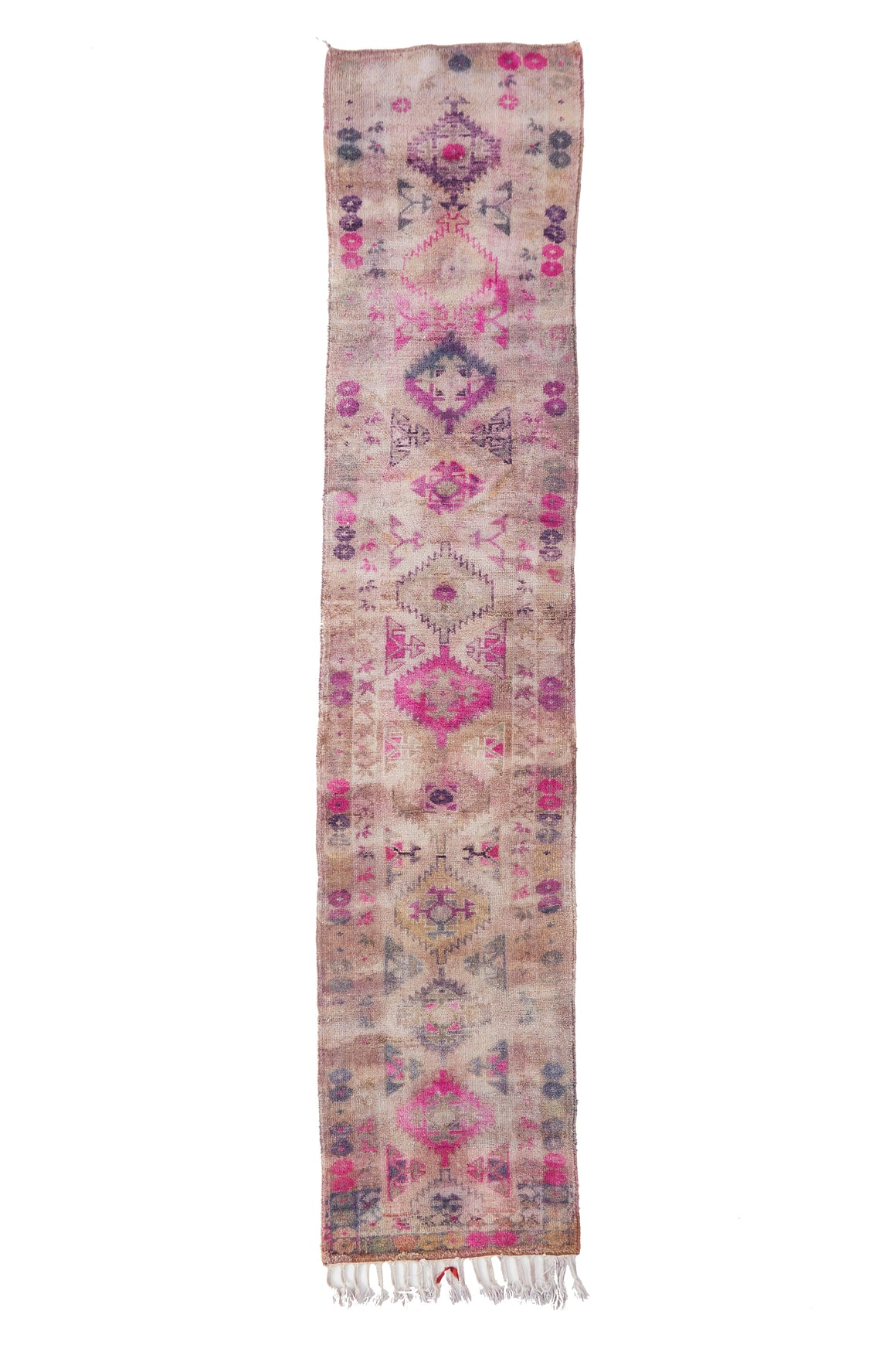 'Allium' Vintage Turkish Ombré Runner - 2'9'' x 13'4'' - Canary Lane - Curated Textiles