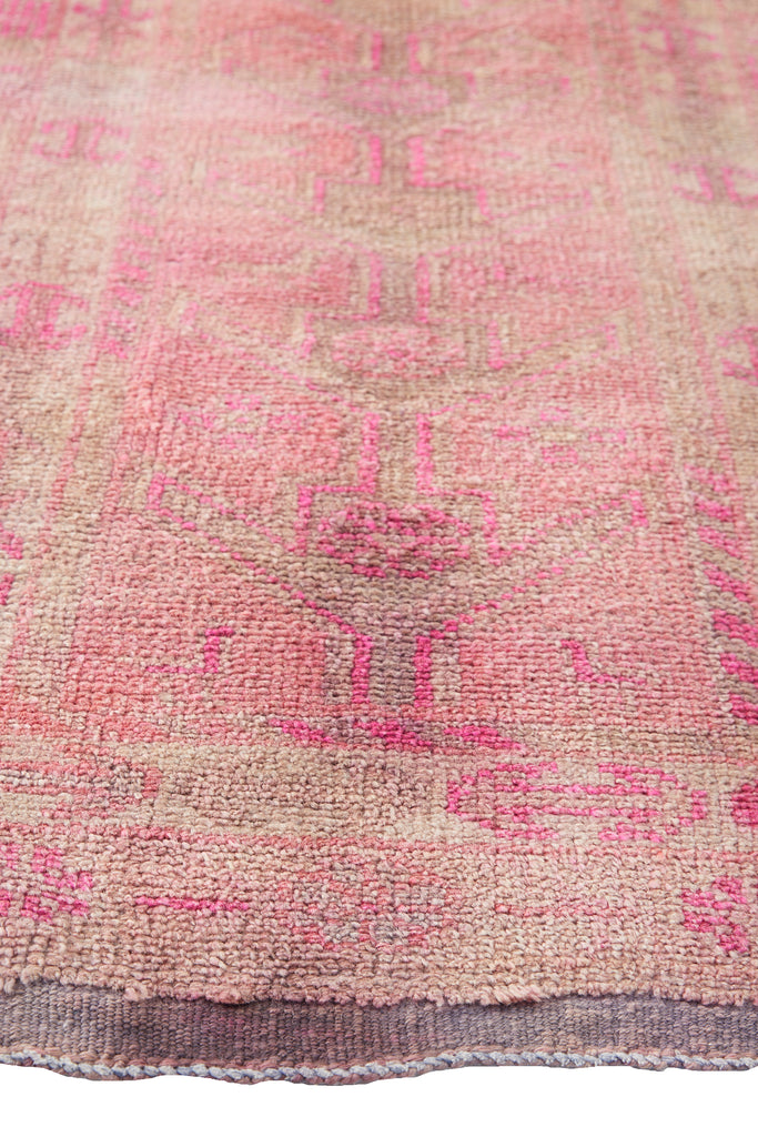"'Foxglove' Turkish Vintage Runner - 2'7"" x 13'10"" - Canary Lane - Curated Textiles"