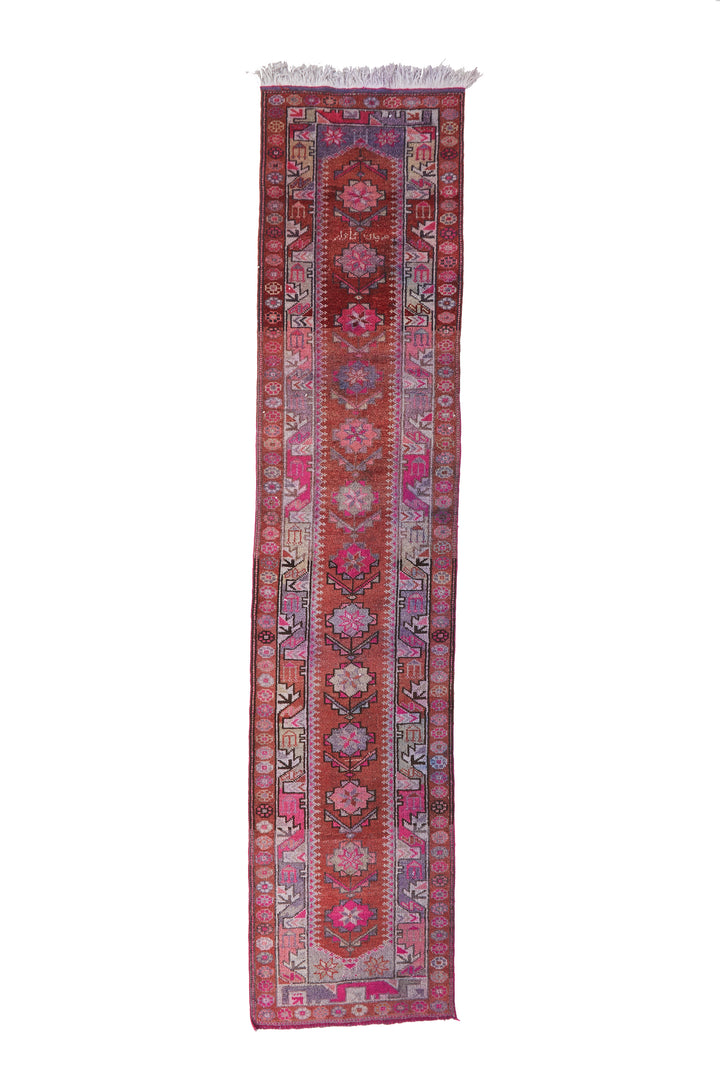 "'Petunia' Turkish Vintage Runner - 2'9.5"" x 13'3'' - Canary Lane - Curated Textiles"