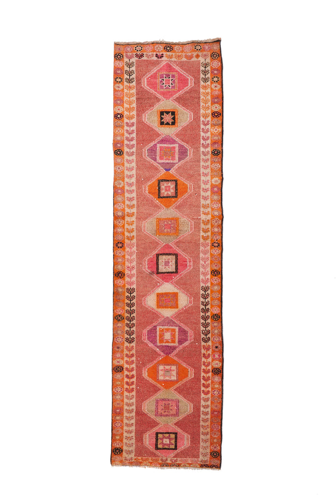 "'Marigold' Turkish Vintage Runner - 2'10"" x 11' - Canary Lane - Curated Textiles"