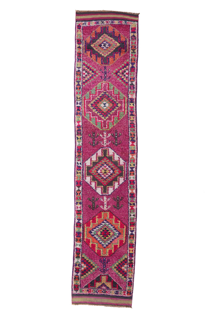 "'Bisbee' Turkish Vintage Runner - 2'10"" x 13'6"" - Canary Lane - Curated Textiles"