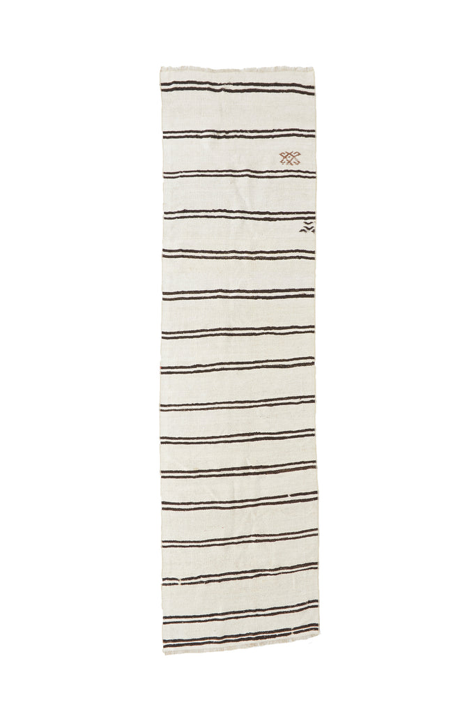 "'Aspen' Turkish Vintage Runner - 2'10"" x 10'8"" - Canary Lane - Curated Textiles"