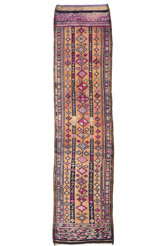 'Bliss' Tribal Vintage Turkish Rug - 2'8'' x 11'7'' - Canary Lane - Curated Textiles