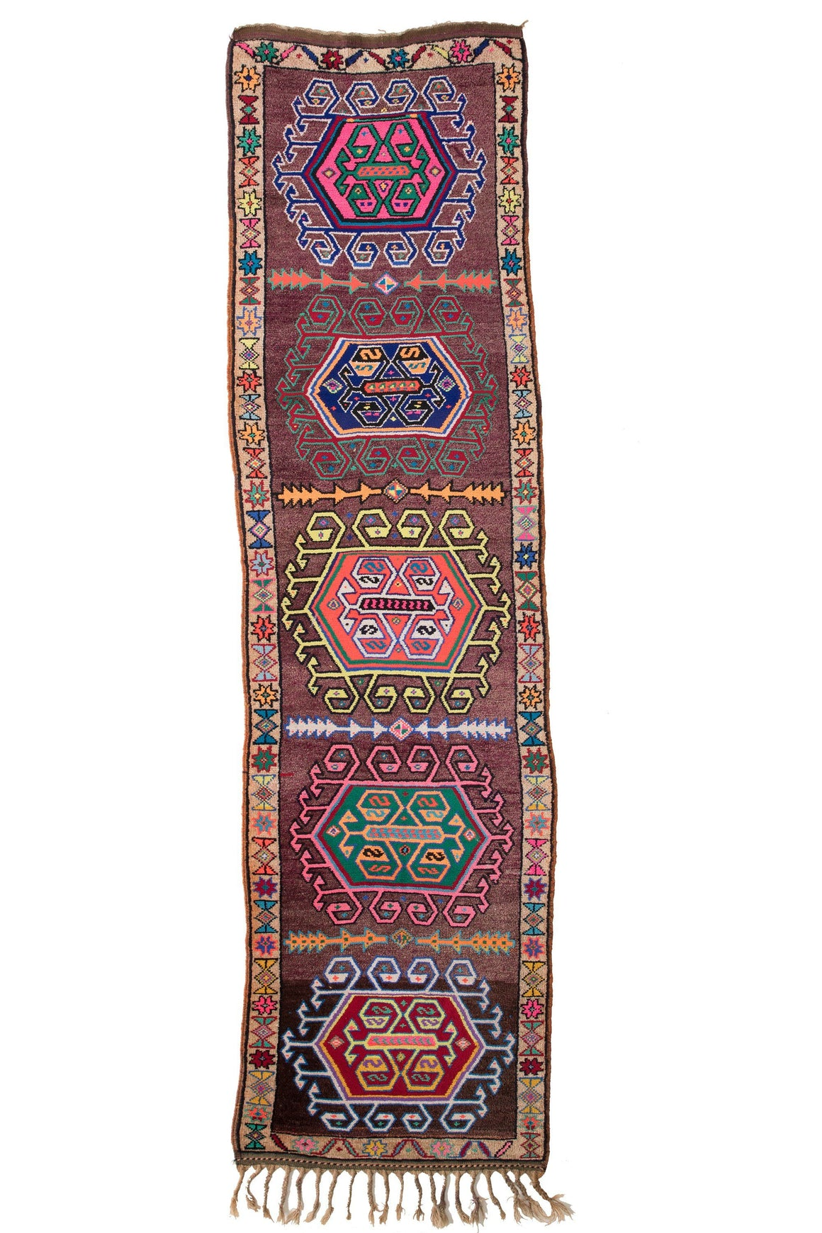 'City Lights' Tribal Runner Rug - Canary Lane - Curated Textiles