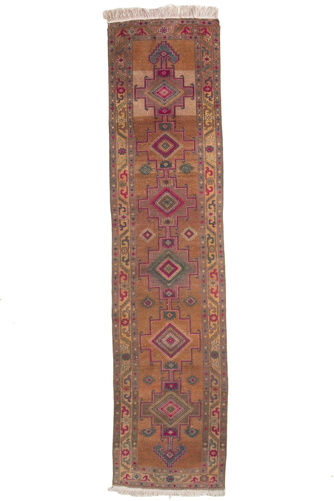 'Alchemy' Turkish Vintage Long Runner - 3'3'' x 14'1'' - Canary Lane - Curated Textiles