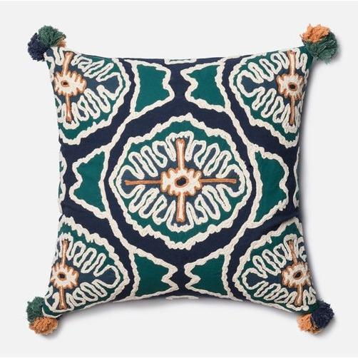 'In The Eye' Square Pillow - Canary Lane - Curated Textiles