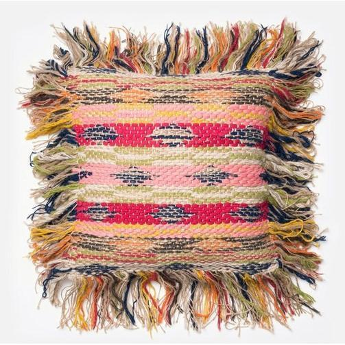 Color Splurge Fringe Pillow - Canary Lane - Curated Textiles