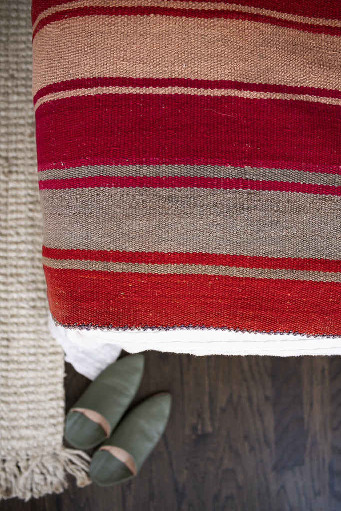 Handwoven Peruvian Frazada No. 009 - Canary Lane - Curated Textiles