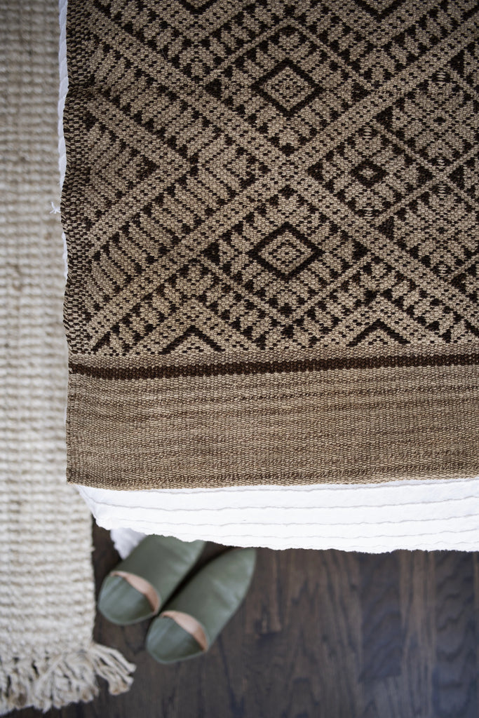 Handwoven Peruvian Frazada No. 016 - Canary Lane - Curated Textiles