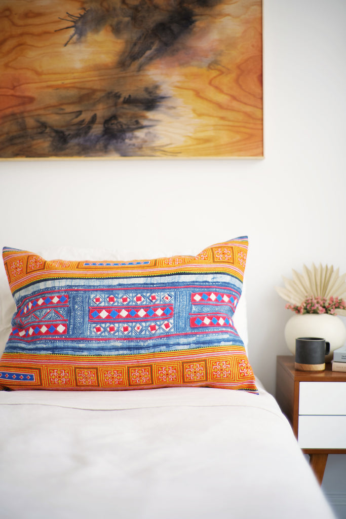 Batik Pillow No. 143 - Canary Lane - Curated Textiles