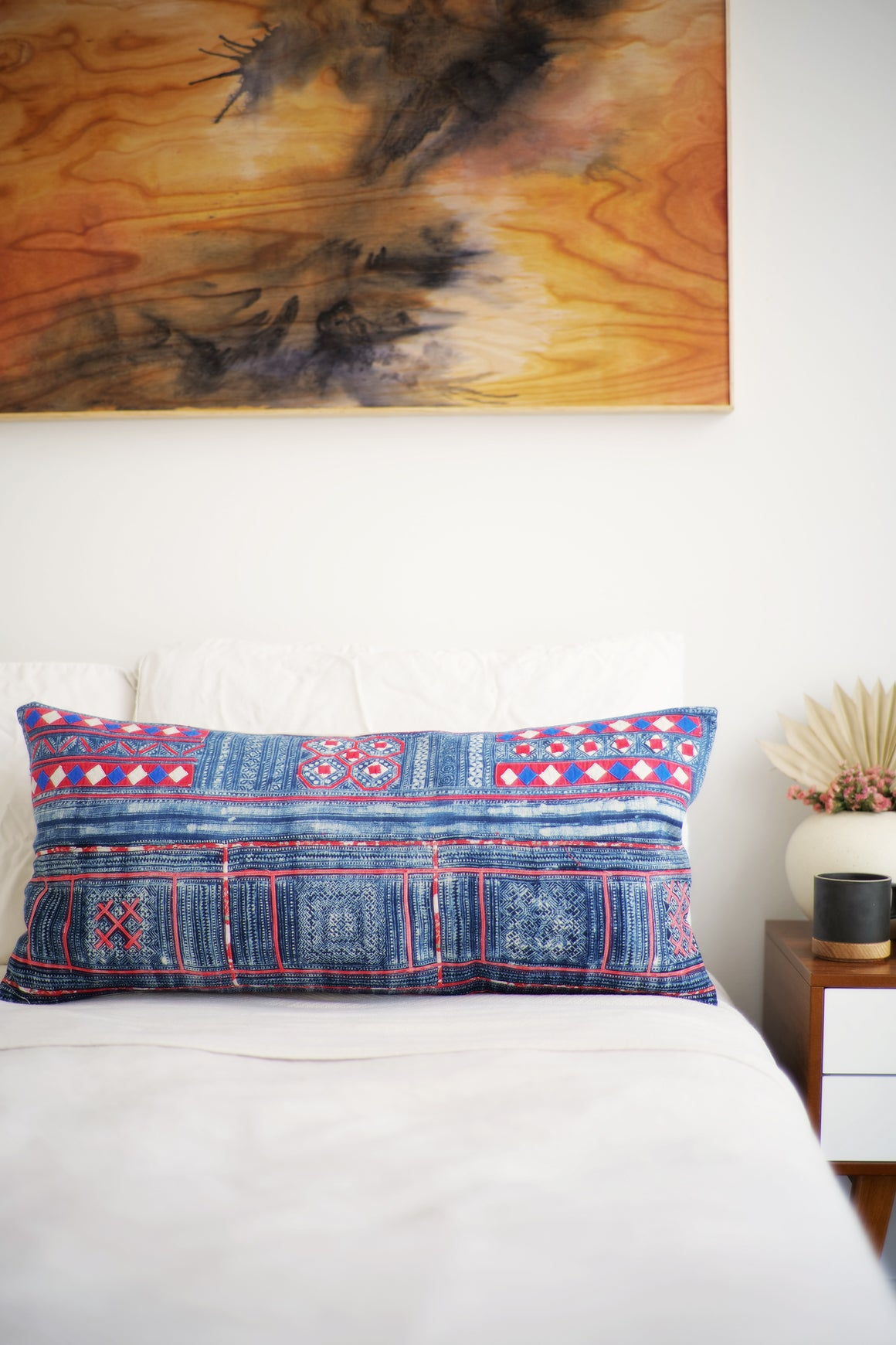 Batik Pillow No. 144 - Canary Lane - Curated Textiles