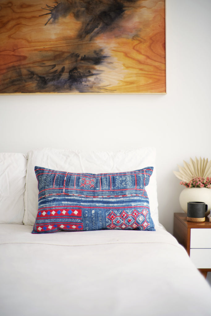 Batik Pillow No. 147 - Canary Lane - Curated Textiles