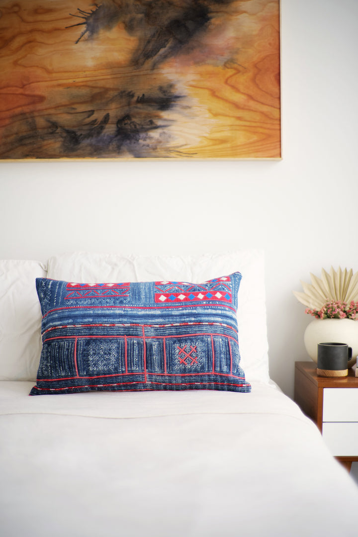 Batik Pillow No. 148 - Canary Lane - Curated Textiles