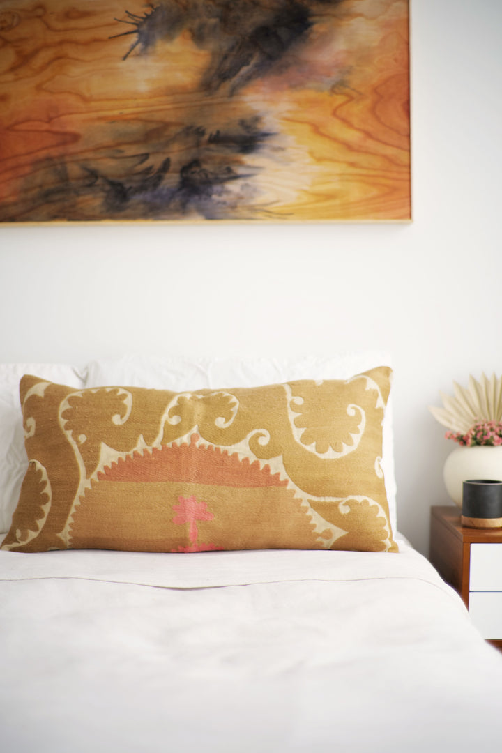 Suzani Pillow No. 152 - Canary Lane - Curated Textiles