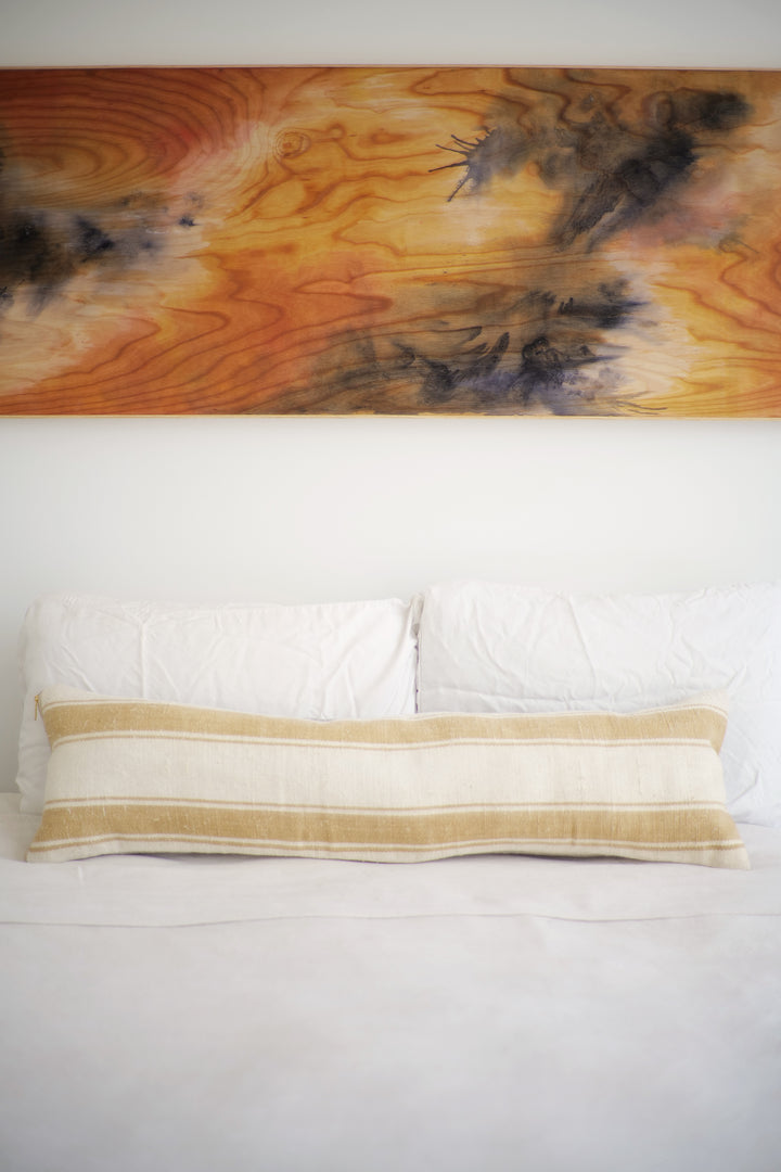 Hemp Lumbar Pillow No. 124 - Canary Lane - Curated Textiles