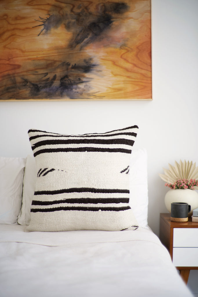 Vintage Hemp Pillow No. 65 - Canary Lane - Curated Textiles
