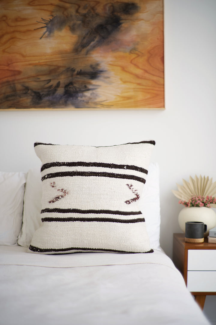 Vintage Hemp Pillow No. 66 - Canary Lane - Curated Textiles