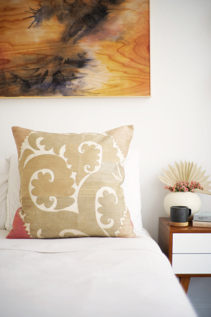 Suzani Pillow No. 140 - Canary Lane - Curated Textiles