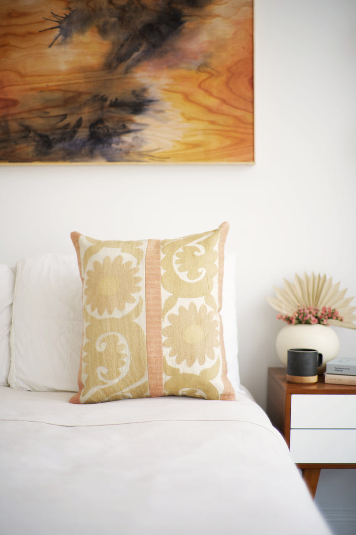 Suzani Pillow No. 141 - Canary Lane - Curated Textiles