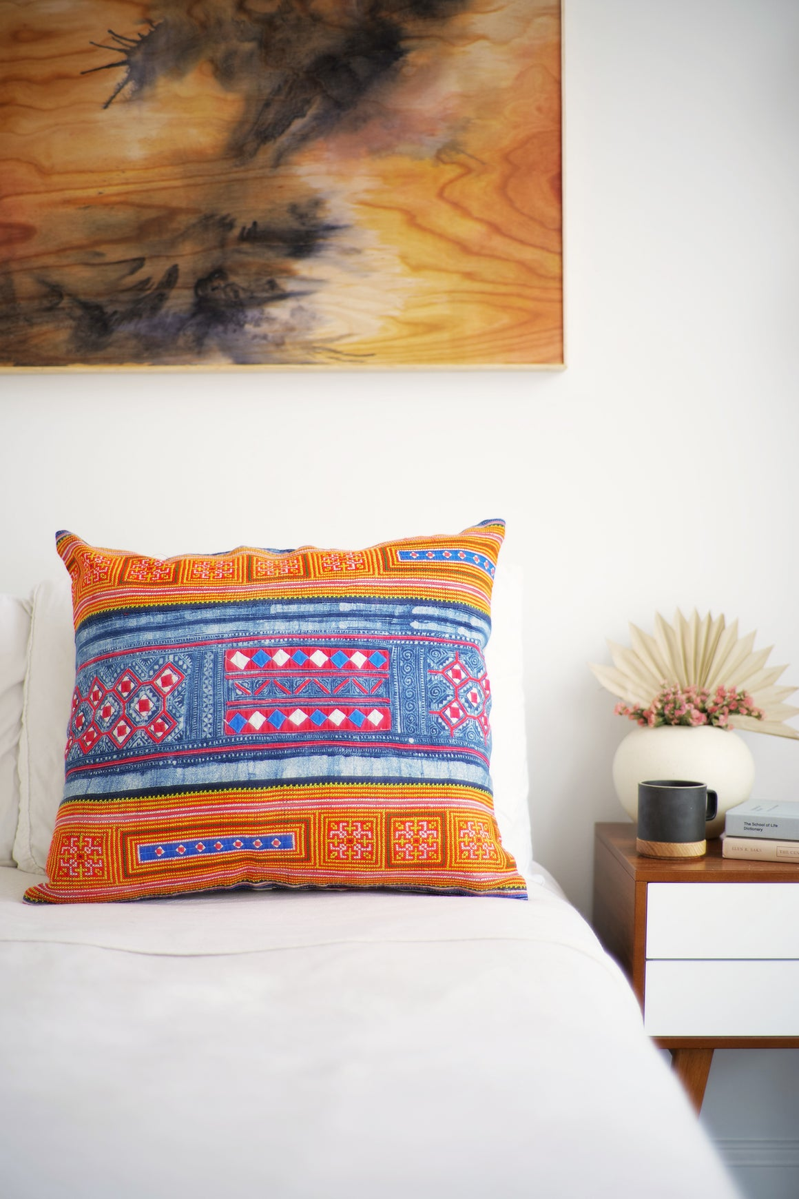 Batik Pillow No. 142 - Canary Lane - Curated Textiles