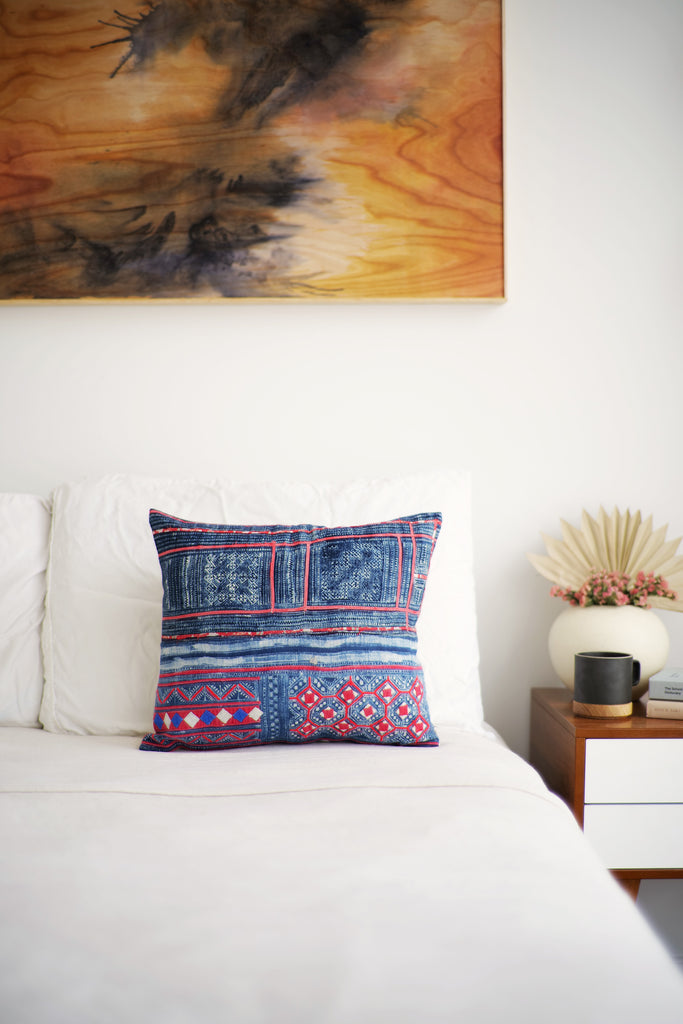Batik Pillow No. 145 - Canary Lane - Curated Textiles