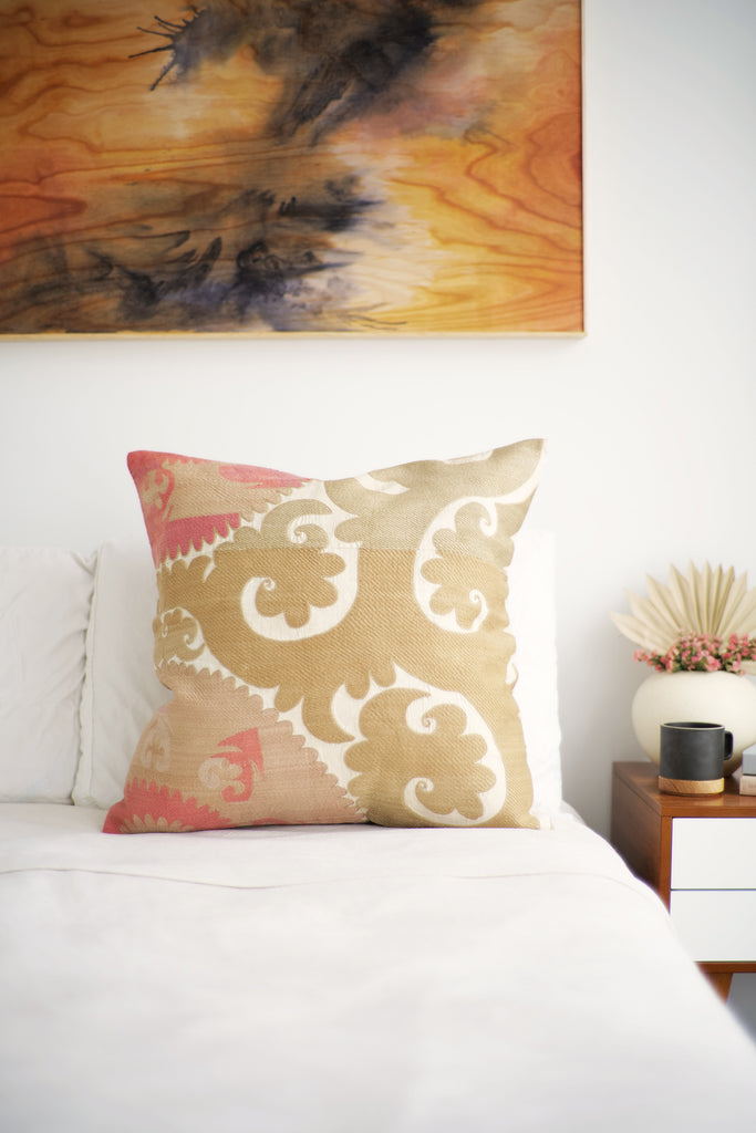 Suzani Pillow No. 151 - Canary Lane - Curated Textiles