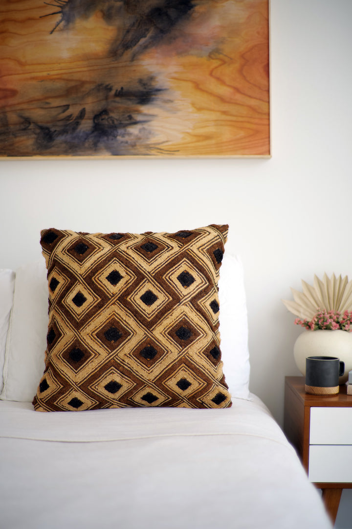 Kuba Cloth Pillow No. 86 - Canary Lane - Curated Textiles