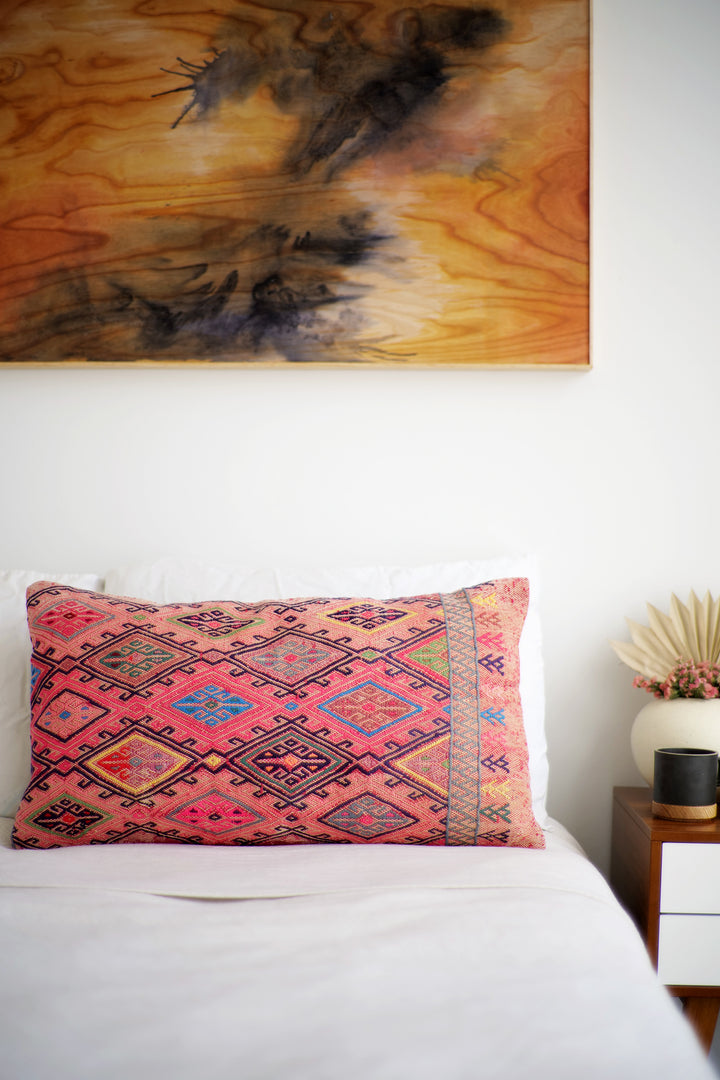 Kilim Lumbar Pillow No. 60 - Canary Lane - Curated Textiles