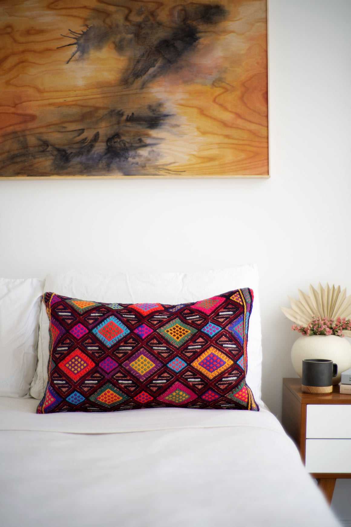 Kilim Lumbar Pillow No. 62 - Canary Lane - Curated Textiles