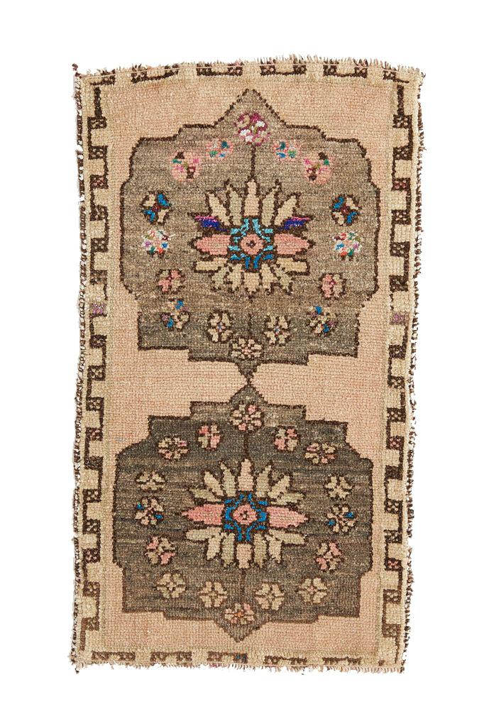 No. 397 Distressed Mini Rug - 1'6.5'' x 2'10''