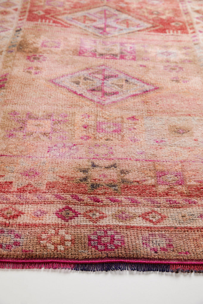 'Zinnia' Turkish Vintage Runner Rug- 3' x 13' - Canary Lane - Curated Textiles