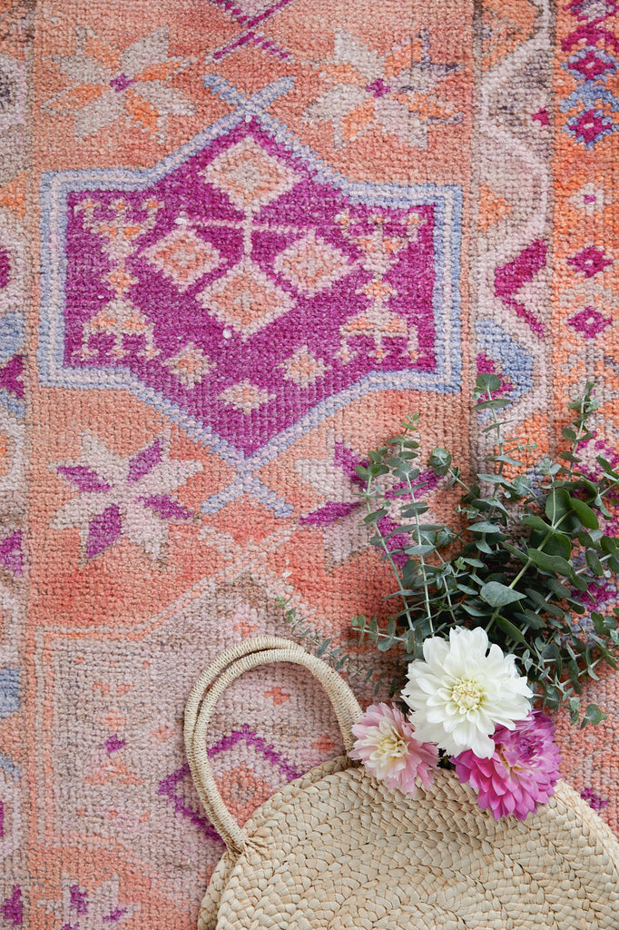"'Kismet' Turkish Runner Rug- 2'8"" x 13'10"" - Canary Lane - Curated Textiles"