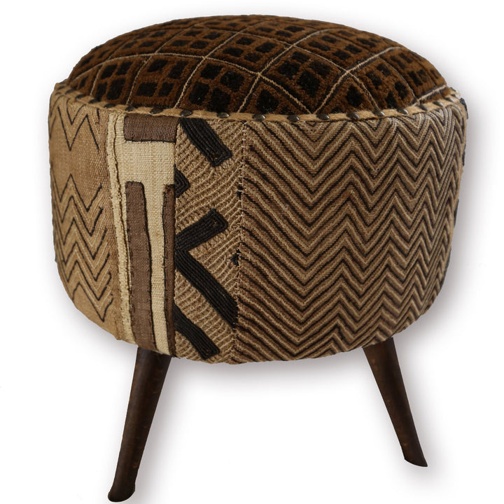 Kuba Cloth Footstool - Canary Lane - Curated Textiles