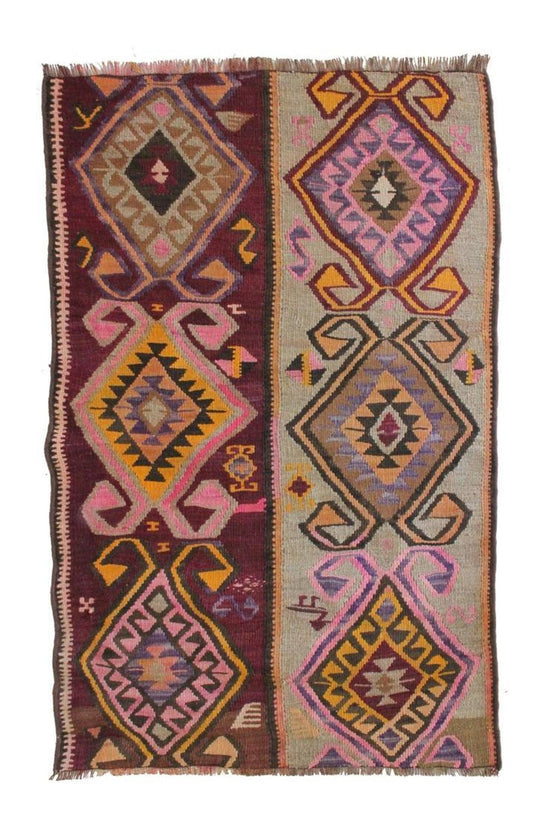 'Lydia' Small Kilim Rug - Canary Lane - Curated Textiles