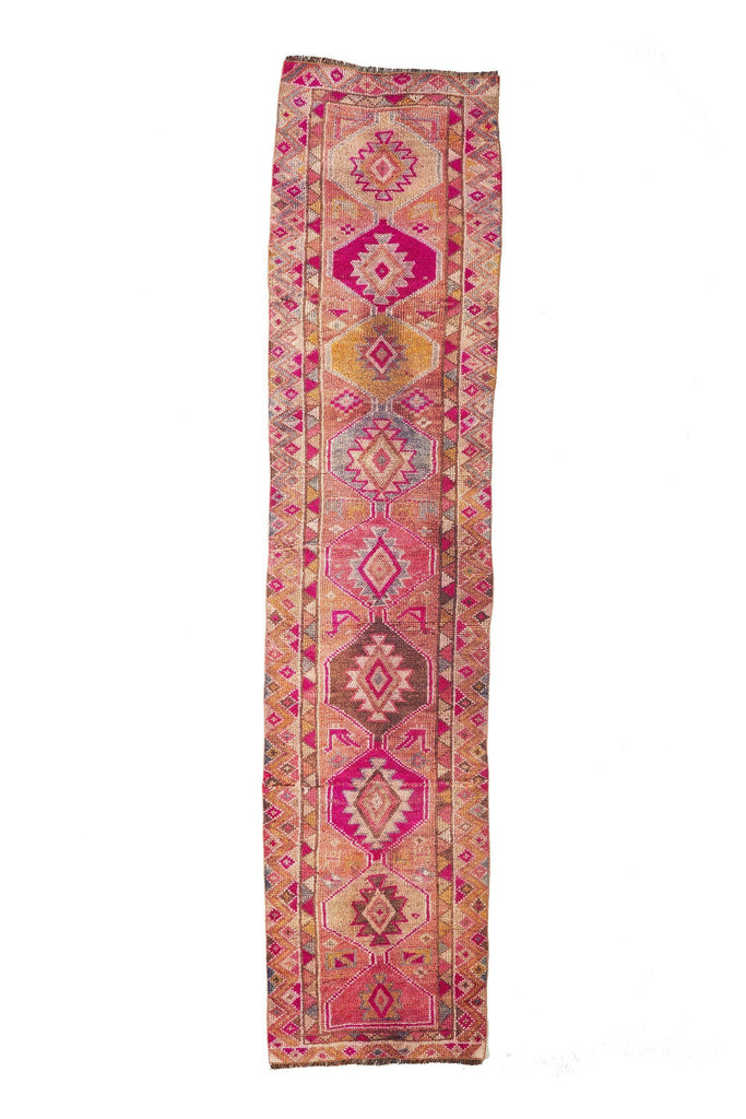 'Peony' Vintage Turkish Runner - 2'10'' x 12'3'' - Canary Lane - Curated Textiles